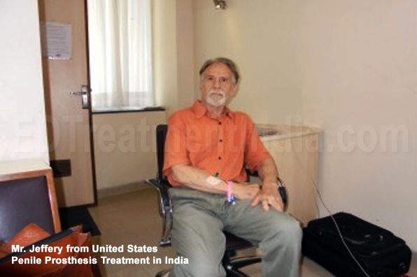 Mr. Jeffery from United States Penile Implant Surgery done in India